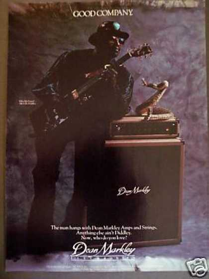 Bo Diddley Photo Dean Markley Amps & Strings (1987)