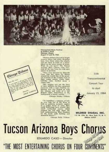 Tucson Arizona Boys Chorus Photo Rare Booking (1963)