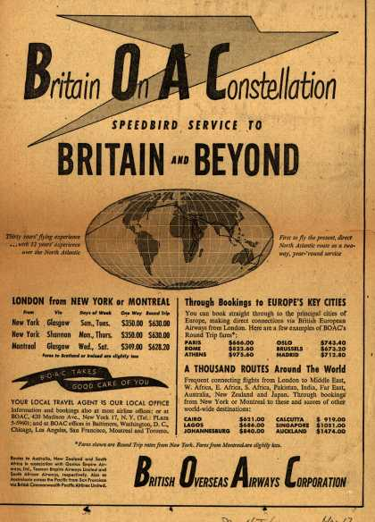 British Overseas Airways Corporation – Britain On A Constellation (1949)