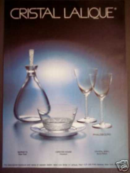 Cristal Lalique Phalsbourg Patern Photo (1985)