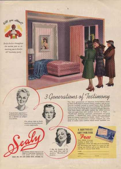 Sealy Bed Mattress (1941)