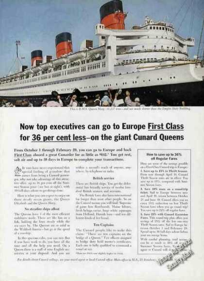 R. M. S. Queen Mary Photo Cunard (1963)