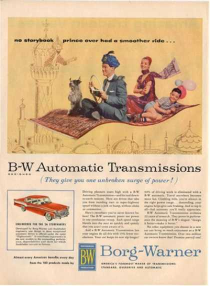 Borg Warner Studebaker Magic Flying Carpet Ad T (1956)