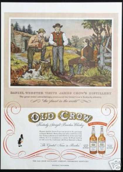Daniel Webster James Old Crow Whiskey Art (1954)