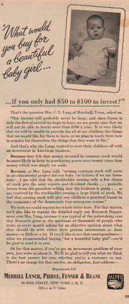 Merrill Lynch – … Only $50 to $100 to Invest (1951)
