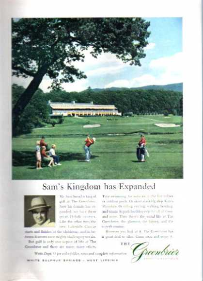 Sam Snead the Greenbrier Golf Course (1962)