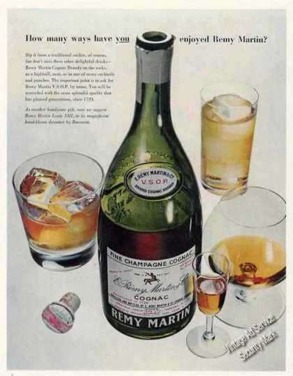 "Remy Martin Cognac Brandy ""How Many Ways"" (1957)"