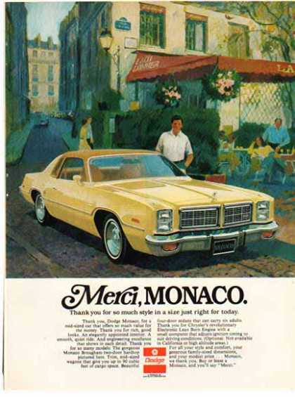 Dodge Car &#8211; Dodge Monaco / 2 tone Yellow (1976)