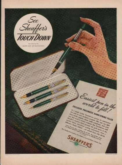 Sheaffers Touch Down Pen & Pencil Set (1949)