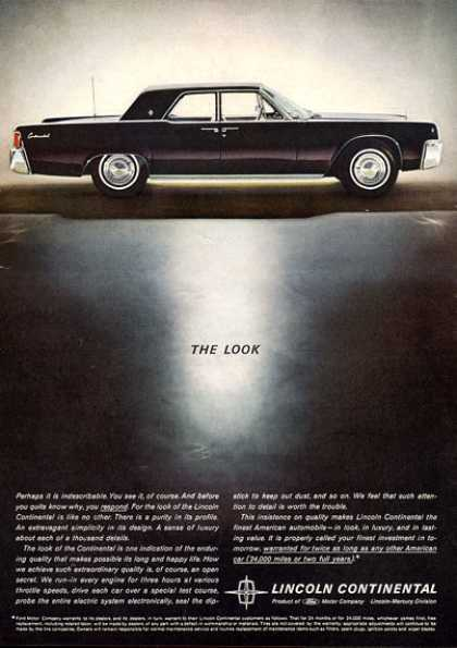 Black Ford Lincoln Continental Suicide Doors (1962)