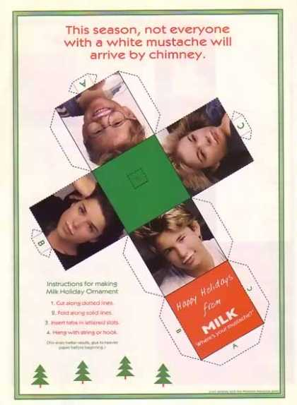 Christmas Got Milk Ornament (1997)