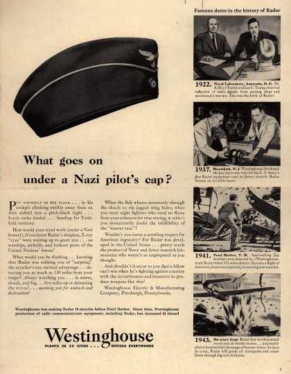 Westinghouse Electric & Manufacturing Company's Various – What goes on under a Nazi pilot's cap? (1943)
