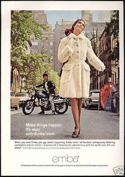Emba Beige Mink Fur Coat Photo (1969)