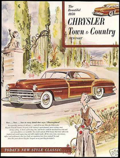 Chrysler Town & Country Newport Car Siebel Art (1950)