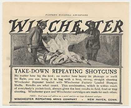 Winchester Repeater Shotgun Take Down Big Birds (1905)