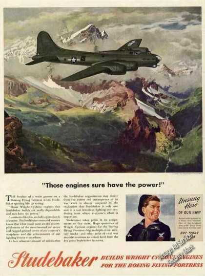 Boeing Flying Fortress Art Wwii Studebaker (1944)
