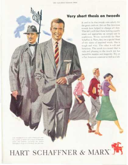 Hart Schaffner & Marx Suit Clothes (1952)