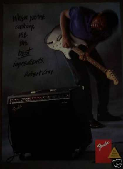 Fender Guitar & Amplifier Robert Cray Music (1988)
