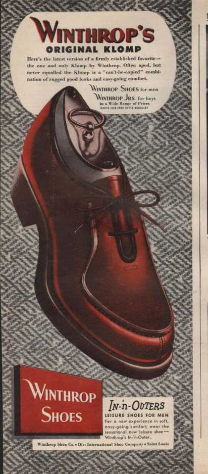 Winthrops Mens Klomp Shoes (1946)