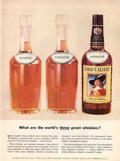 Lord Calvert Whisky Bottle Photo (1956)