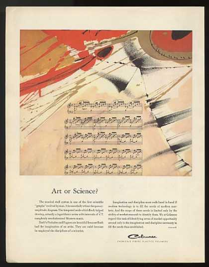 Musical Staff Art or Science Celanese Chemicals (1963)