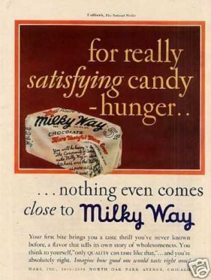 Milky Way Candy Bar Color (1930)
