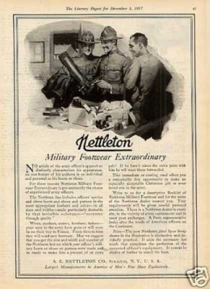 "Nettleton Shoes Ad ""Military Footwear... (1917)"