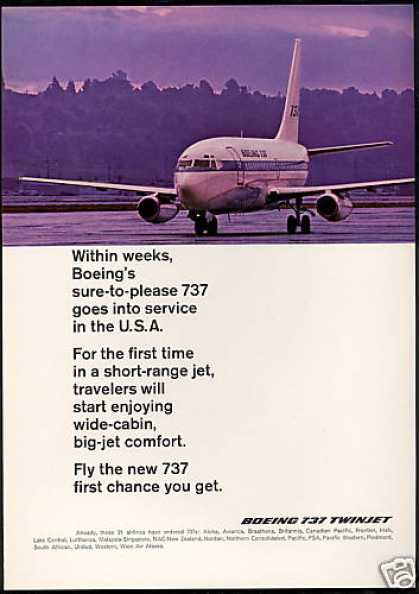 Boeing 737 Airplane Photo Introduction (1968)