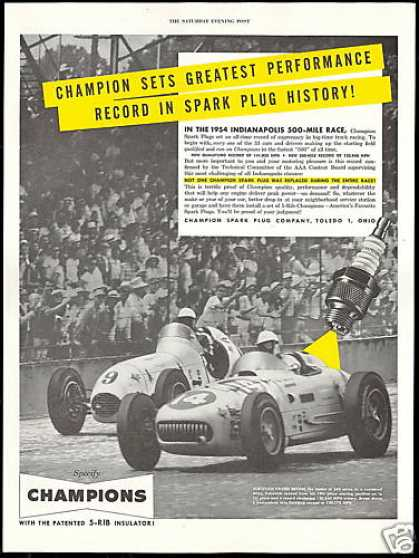 Indy 500 Vukovich & Bryan Car Champion Plugs (1954)