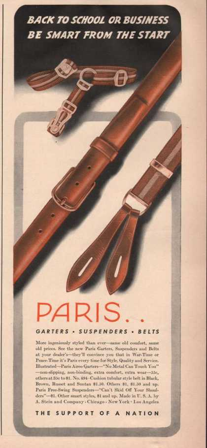 Paris Garters Suspenders & Belts (1942)