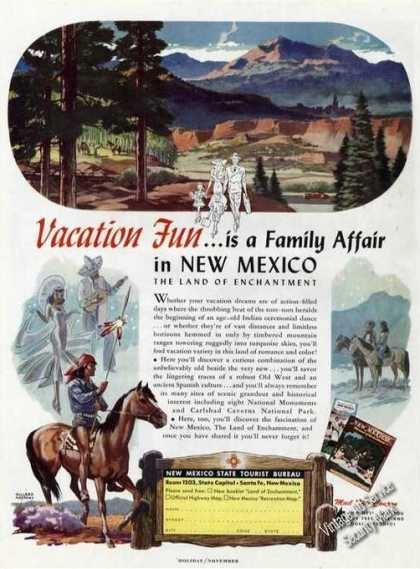Willard Andrews Art New Mexico Travel (1949)