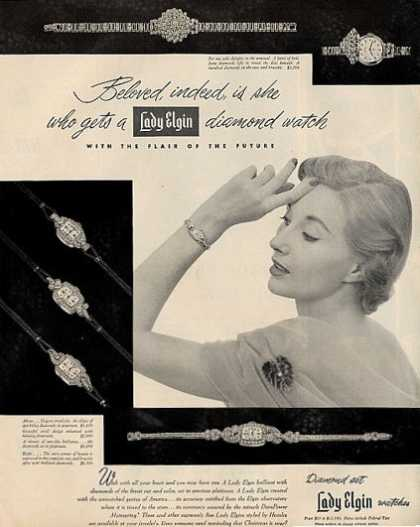 Lady Elgin Diamond Watches (1950)
