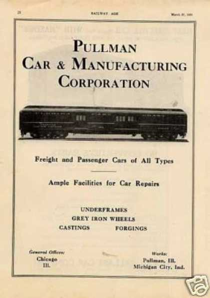 Pullman Car Ad Florida East Coast Baggage Car #489 (1926)