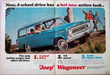 Jeep Wagoneer Hot New Action Hikers Station Wagon (1965)