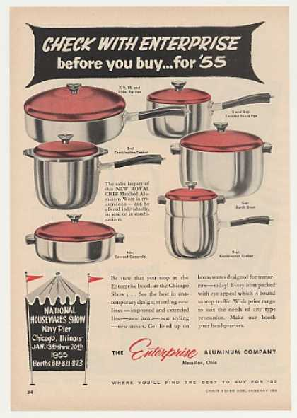 Enterprise New Royal Chef Aluminum Ware Trade (1955)