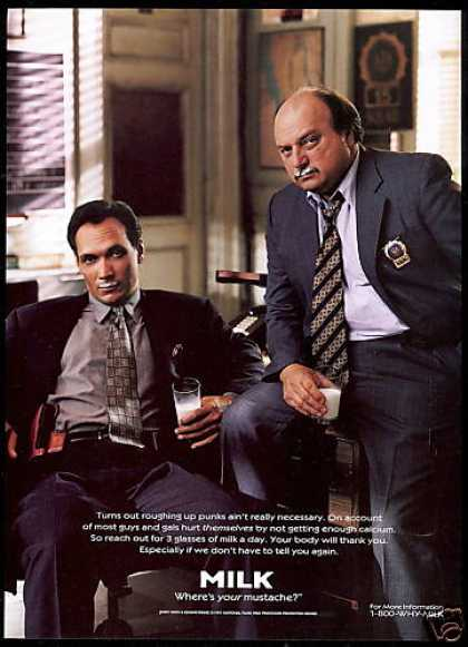 Jimmy Smits Dennis Franz Milk Board Moustache (1998)