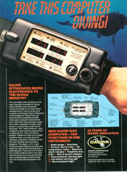 Dacor Diving Diver Computer (1980)