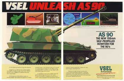 VSEL AS90 155mm Self-Propelled Howitzer (1986)