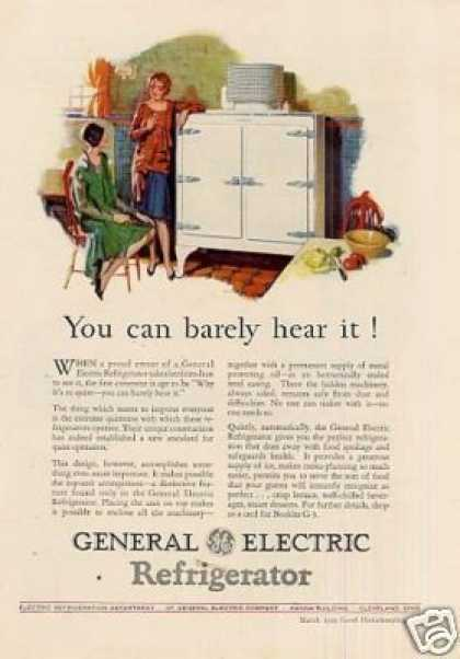"General Electric Refrigerator Color Ad ""You Can... (1929)"