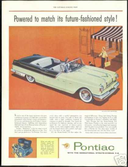 Green Black Pontiac Star Chief Convertible Car (1955)