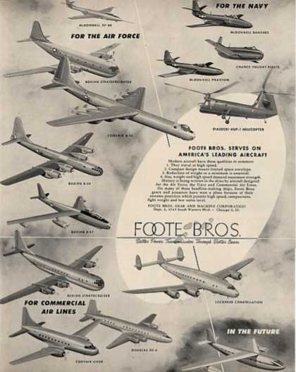 Foote Bros. Jets, Planes, Helicopter (1950)