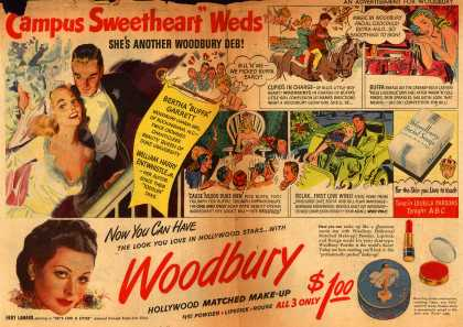 "Woodbury's Facial Soap – ""Campus Sweetheart"" Weds. She's Another Woodbury Deb (1948)"