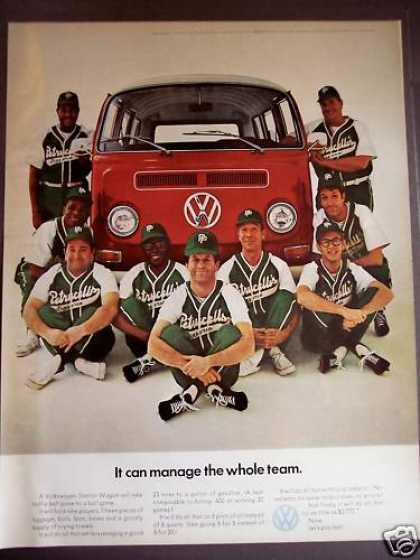 Volkswagen Station Wagon Baseball Team (1970)