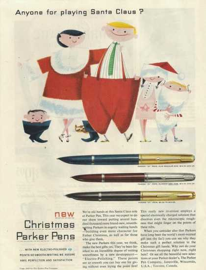 New Christmas Parker Pens (1953)