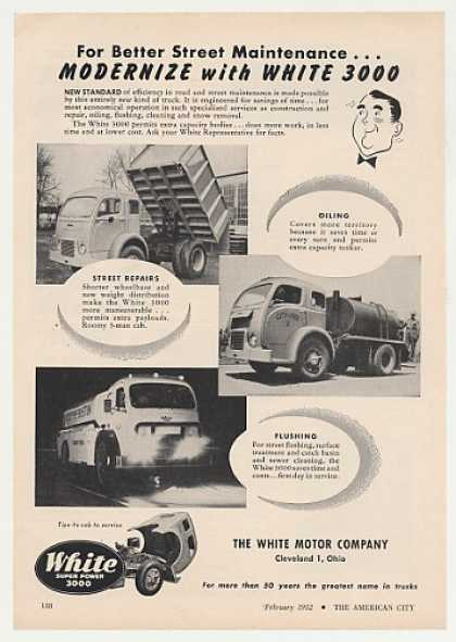 White 3000 City Street Maintenance Trucks (1952)