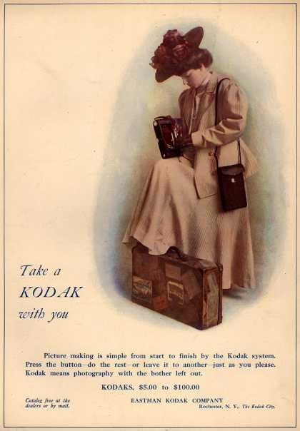 Kodak &#8211; Take a Kodak with you (1908)