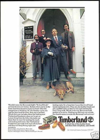 Church Evils of Drink Timberland Boot Shoe (1979)
