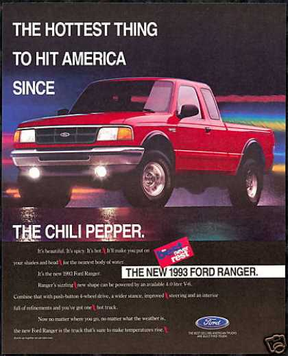 Ford Ranger Truck Pickup Vintage Photo (1993)