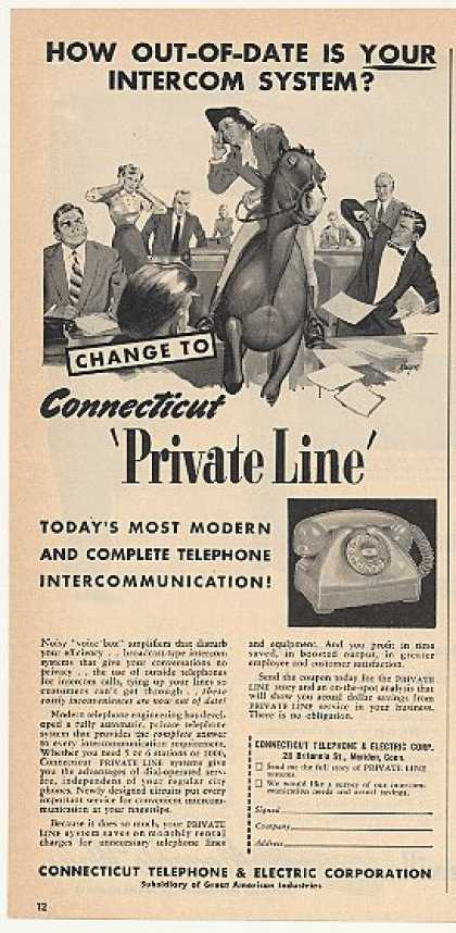 Connecticut Telephone Private Line Phone (1953)