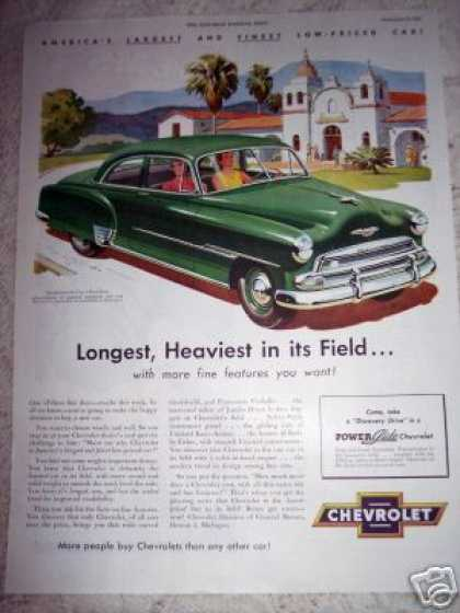 Chevrolet Car Longest Heaviest De Luxe (1951)